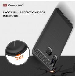 612 - MadPhone Carbon силиконов кейс за Samsung Galaxy A40