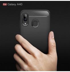 613 - MadPhone Carbon силиконов кейс за Samsung Galaxy A40