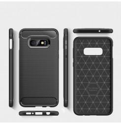 6182 - MadPhone Carbon силиконов кейс за Samsung Galaxy S10e