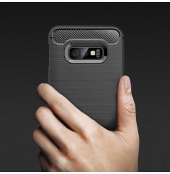 6185 - MadPhone Carbon силиконов кейс за Samsung Galaxy S10e