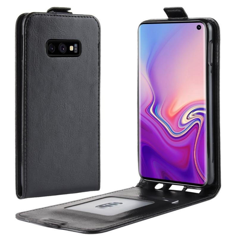 6239 - MadPhone Flip кожен калъф за Samsung Galaxy S10e