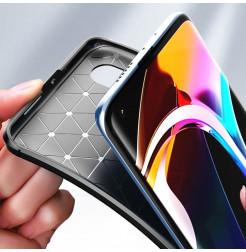 6707 - iPaky Carbon силиконов кейс калъф за Xiaomi Mi 10 / 10 Pro