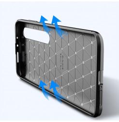 6710 - iPaky Carbon силиконов кейс калъф за Xiaomi Mi 10 / 10 Pro