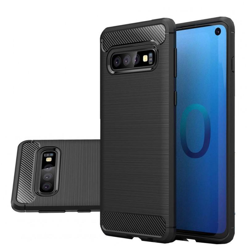 6948 - MadPhone Carbon силиконов кейс за Samsung Galaxy S10