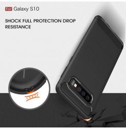 6952 - MadPhone Carbon силиконов кейс за Samsung Galaxy S10