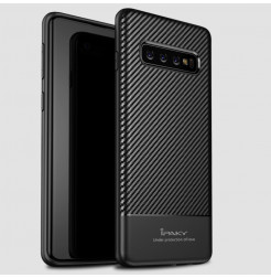 6998 - iPaky Carbon силиконов кейс калъф за Samsung Galaxy S10