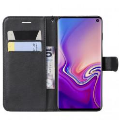7037 - MadPhone Classic кожен калъф за Samsung Galaxy S10