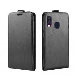 722 - MadPhone Flip кожен калъф за Samsung Galaxy A40