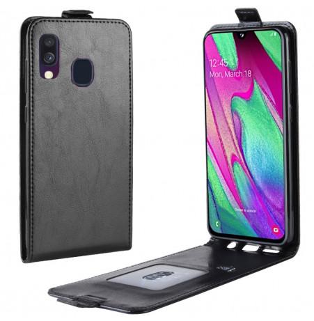 723 - MadPhone Flip кожен калъф за Samsung Galaxy A40