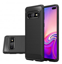 7474 - MadPhone Carbon силиконов кейс за Samsung Galaxy S10+ Plus