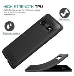 7475 - MadPhone Carbon силиконов кейс за Samsung Galaxy S10+ Plus