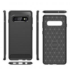 7476 - MadPhone Carbon силиконов кейс за Samsung Galaxy S10+ Plus