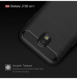 7628 - MadPhone Carbon силиконов кейс за Samsung Galaxy J7 (2017) J730