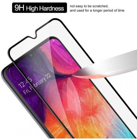 769 - 3D стъклен протектор за целия дисплей Samsung Galaxy A30