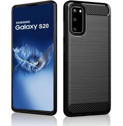 7886 - MadPhone Carbon силиконов кейс за Samsung Galaxy S20
