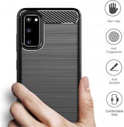 7887 - MadPhone Carbon силиконов кейс за Samsung Galaxy S20