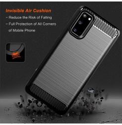 7889 - MadPhone Carbon силиконов кейс за Samsung Galaxy S20