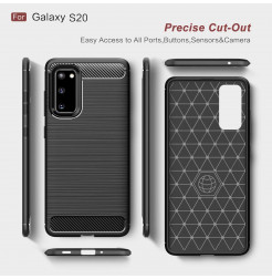 7890 - MadPhone Carbon силиконов кейс за Samsung Galaxy S20