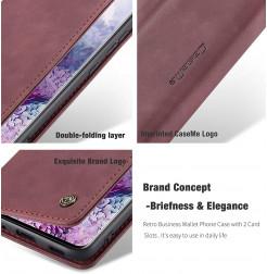 8210 - CaseMe премиум кожен калъф за Samsung Galaxy S20