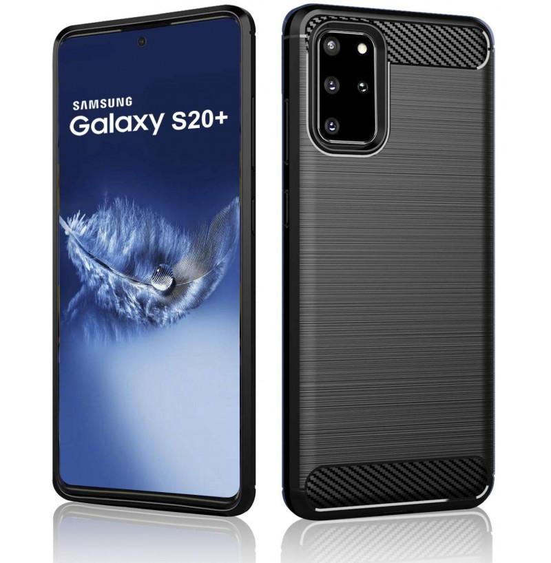 8386 - MadPhone Carbon силиконов кейс за Samsung Galaxy S20+ Plus