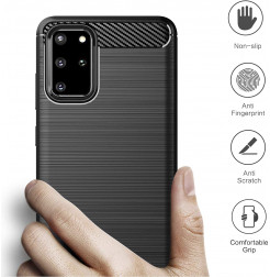 8387 - MadPhone Carbon силиконов кейс за Samsung Galaxy S20+ Plus