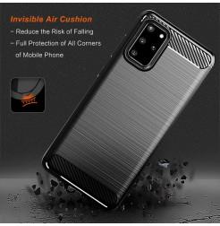 8389 - MadPhone Carbon силиконов кейс за Samsung Galaxy S20+ Plus