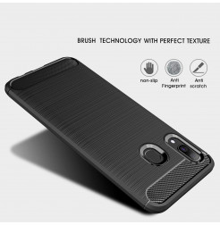860 - MadPhone Carbon силиконов кейс за Samsung Galaxy A30
