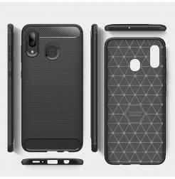 862 - MadPhone Carbon силиконов кейс за Samsung Galaxy A30