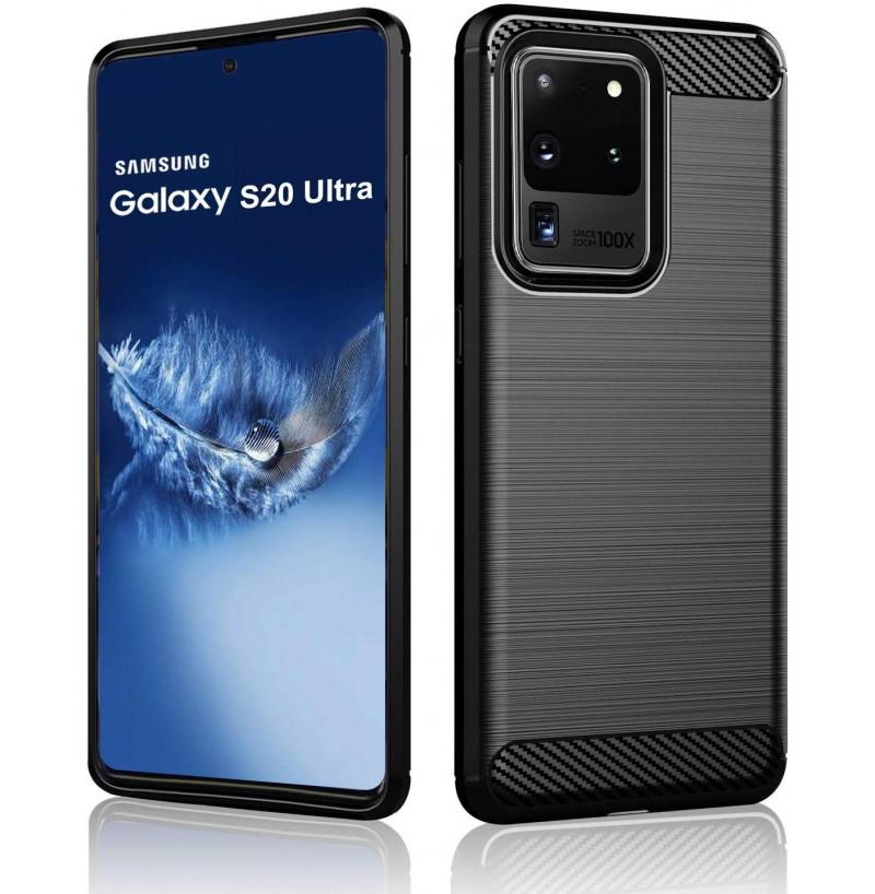 8783 - MadPhone Carbon силиконов кейс за Samsung Galaxy S20 Ultra