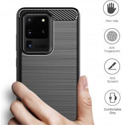 8784 - MadPhone Carbon силиконов кейс за Samsung Galaxy S20 Ultra