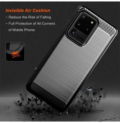 8786 - MadPhone Carbon силиконов кейс за Samsung Galaxy S20 Ultra