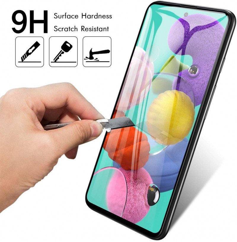 910 - 5D стъклен протектор за Samsung Galaxy A51