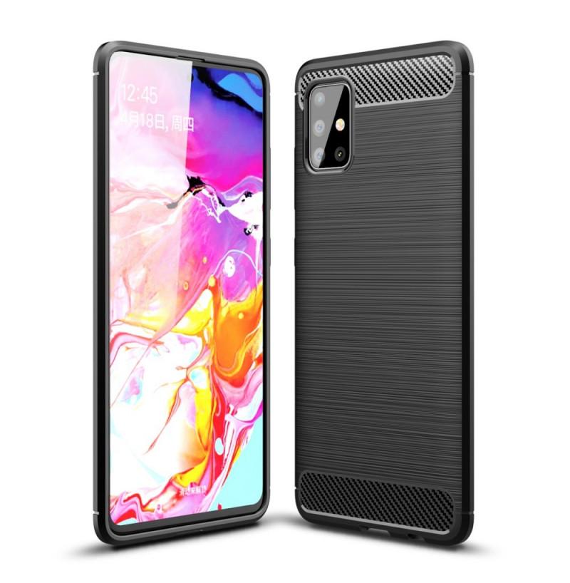 993 - MadPhone Carbon силиконов кейс за Samsung Galaxy A51