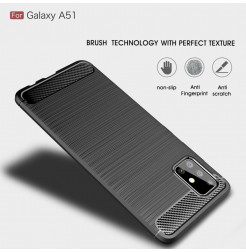 994 - MadPhone Carbon силиконов кейс за Samsung Galaxy A51