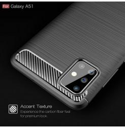 995 - MadPhone Carbon силиконов кейс за Samsung Galaxy A51