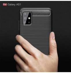 998 - MadPhone Carbon силиконов кейс за Samsung Galaxy A51